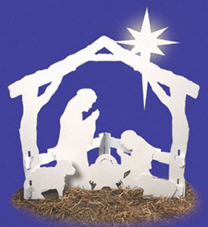 Religious o 39 holy night yard d cor project pattern for Holiday yard decorations patterns