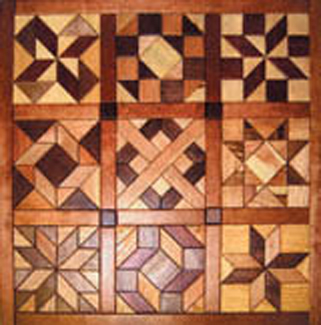 All Other Geo Shaped Wood Quilt 1 Intarsia Project Pattern