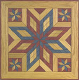 ALL - Painted Wooden Quilt Square #2 Woodcraft Pattern